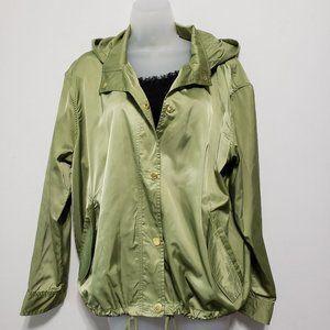 Michael Kors Satin Hooded Jacket Size Large